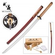 Musashi - חרב קאטנה מוסשי - Vine Samurai Sword – Hand-Forged